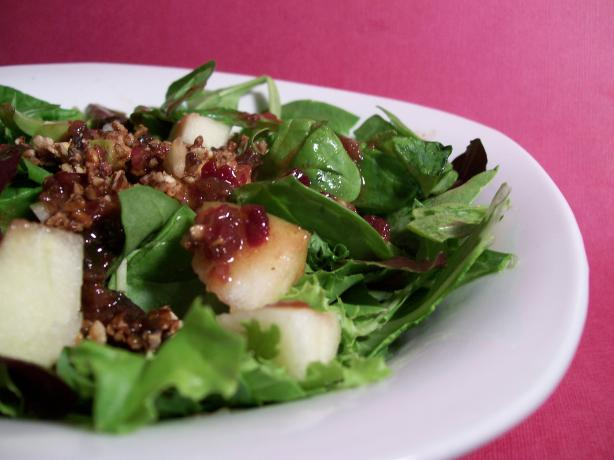 Apple Pecan Salad With Cranberry Vinaigrette. Photo by Sharon123