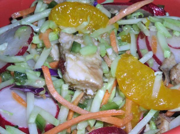 Chinese Chicken Coleslaw Salad. Photo by TeresaS