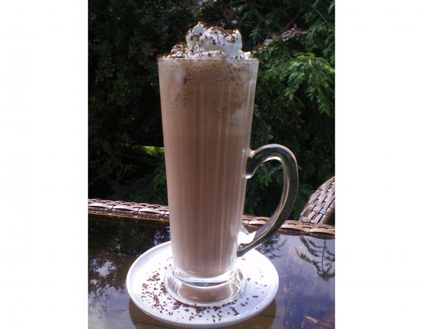 French Vanilla Frozen Coffee (Drink). Photo by Julie B's Hive