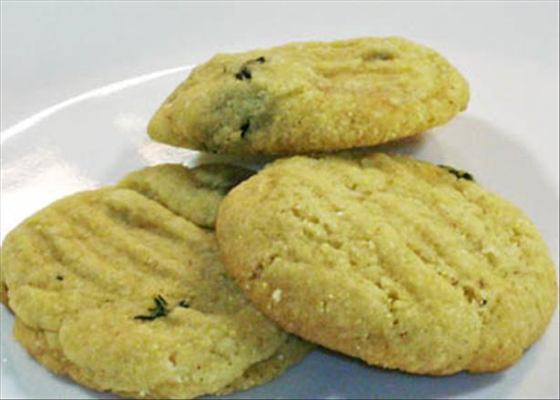Chef Joey's Vegan Cornmeal-Thyme Cookies. Photo by Chef Joey Z.