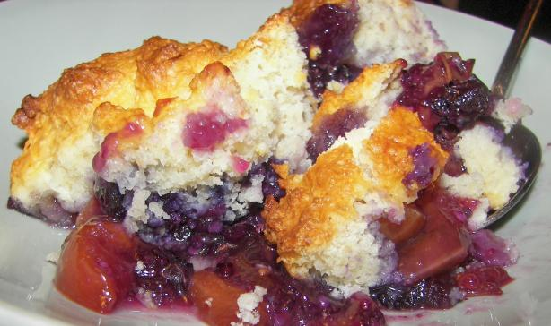 Blueberry and Nectarine Cobbler. Photo by Baby Kato