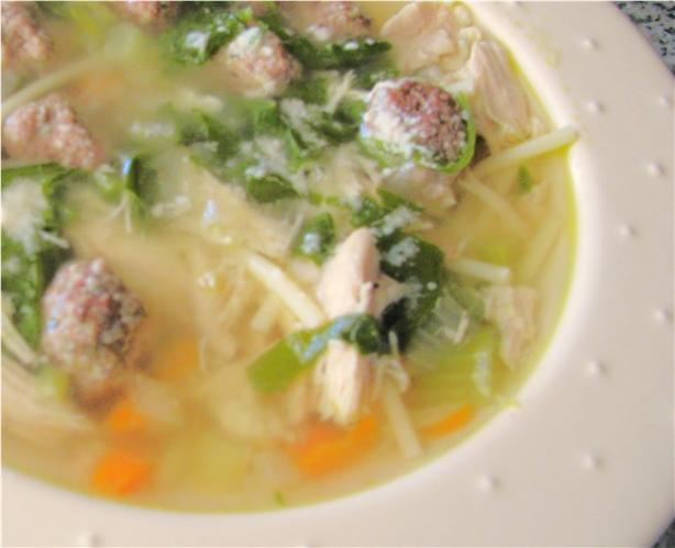 Crock Pot Italian Wedding Soup. Photo by out of here