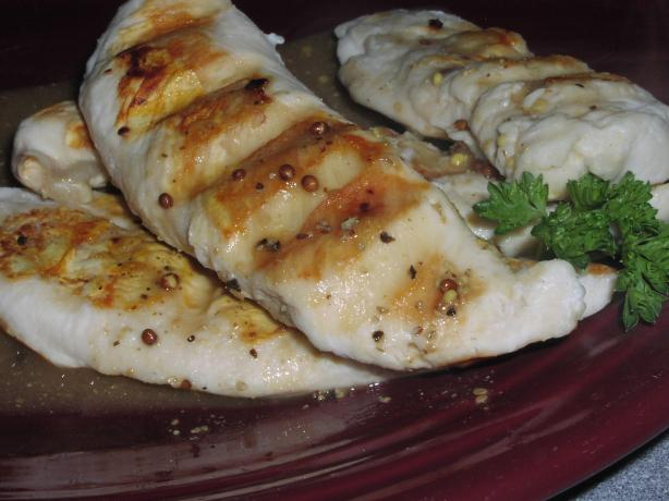 Grilled Chicken With Three-Mustard Sauce. Photo by TeresaS