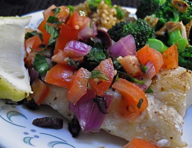 Cod With Mediterranean Salsa. Photo by PaulaG