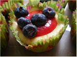 Cheesecake Cupcakes With Raspberry Sauce