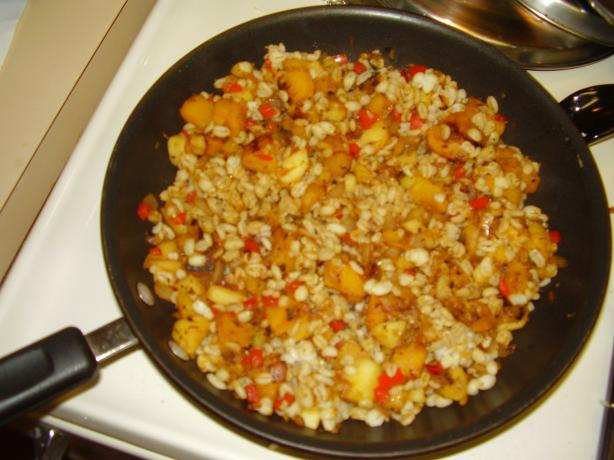 Weight Watchers Barley With Butternut Squash, Apples and Onions. Photo by Camel_Cracker