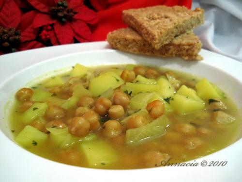 Chickpea and Potato Soup. Photo by Annacia