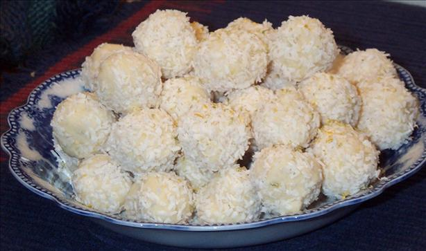 White Chocolate Coconut Citrus Truffles. Photo by BarbryT