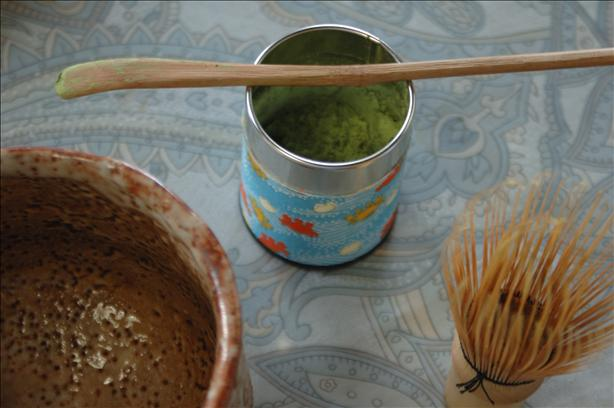 Preparing Matcha (Japanese Powdered Green Tea). Photo by Ingy