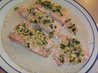 Salmon With Basil Champagne Cream Sauce. Recipe by Nyteglori