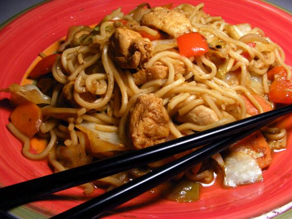 Yakisoba Chicken. Photo by Lavender Lynn