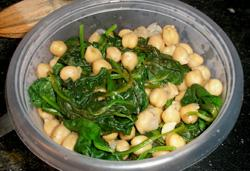 Lemon-Spinach Chickpeas. Photo by dicentra