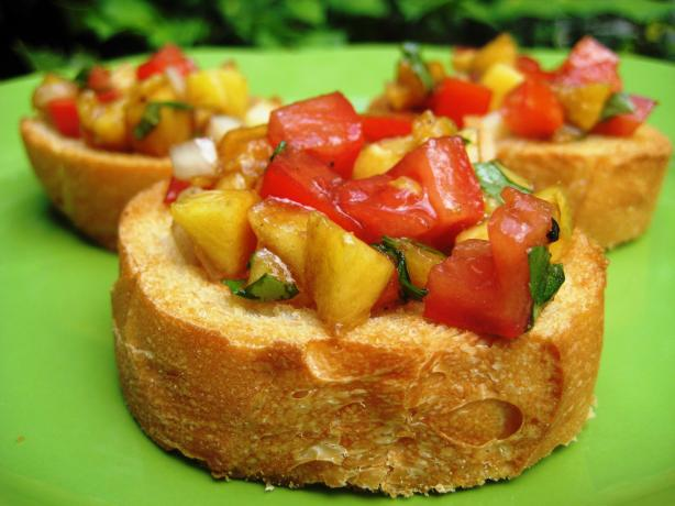 Fruity (Peachy) Bruschetta. Photo by gailanng