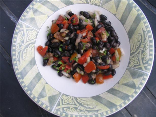 Banana Black Bean Salad. Photo by Food Snob in Israel