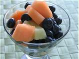Melon with Blueberries