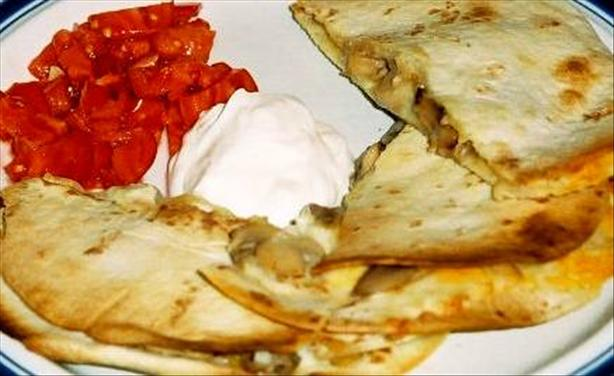Portabella Mushroom Quesadillas. Photo by Bobtail