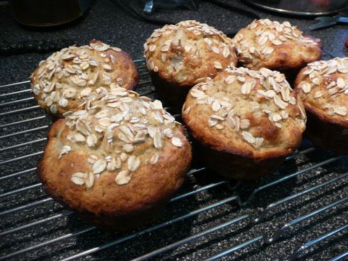 Pear-Oatmeal Muffins. Photo by Mikekey