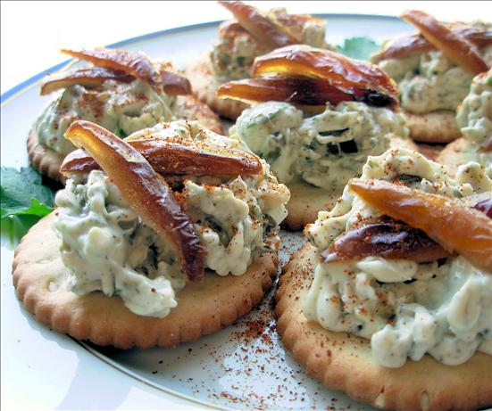 Brandied Blue Cheese & Dates on Crackers. Photo by French Tart