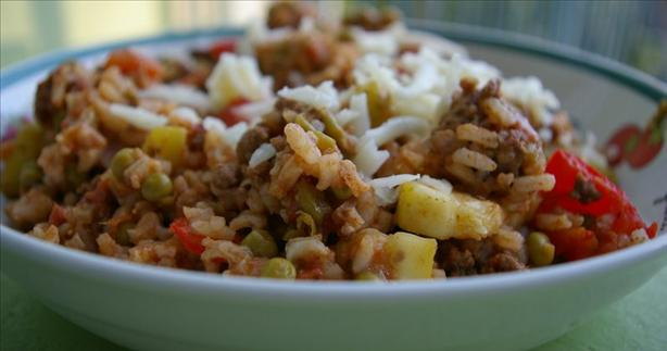 Mexi Ground Beef-Rice Skillet. Photo by Redsie