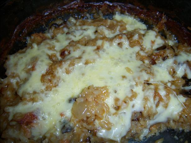 Quick and Easy One-Bowl Cheesy Onion Rice Bake. Photo by **Mandy**