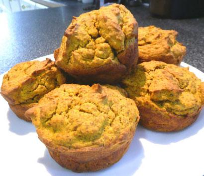 Wheat-Free, Low-Carb Pumpkin Muffins. Photo by Mikekey