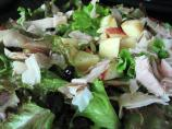 Turkey and Apple Salad over Watercress