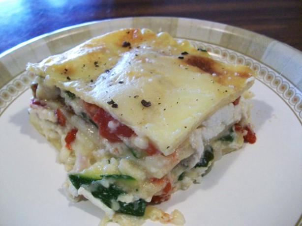 Vegetable Lasagna With a Thick Bechamel Sauce. Photo by 2Bleu