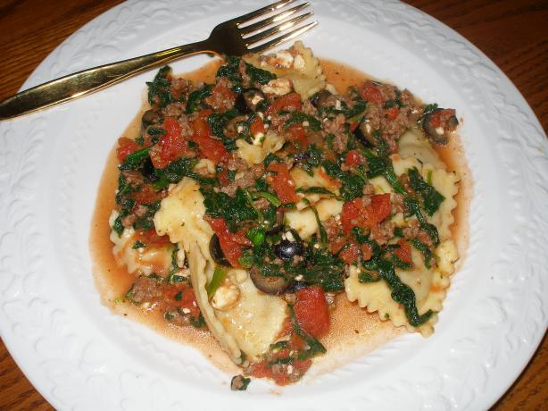 Greek-Style Beef and Cheese Ravioli. Photo by Flaming Red