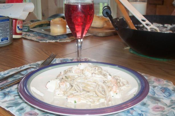 Fettuccine Alfredo With Shrimp & Crab Meat. Photo by ARathkamp