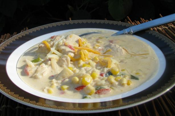 Mexican Chicken Corn Chowder. Photo by lazyme