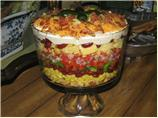 Southwestern Cornbread Layered Salad