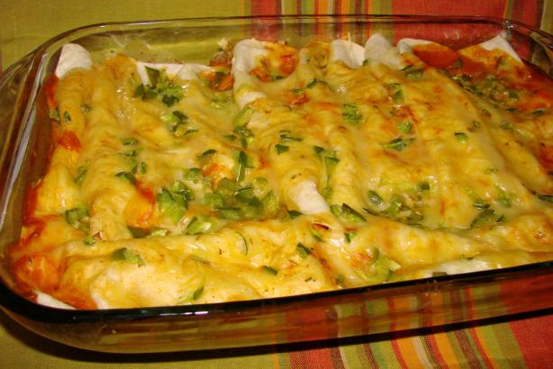 Cheese and Chicken Enchiladas. Photo by Boomette