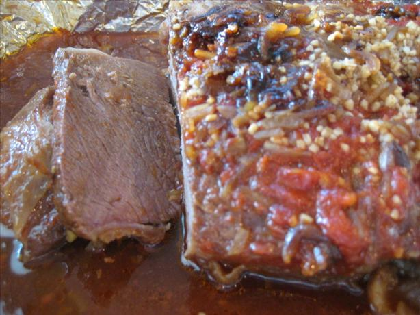 Annie's Sweet and Sour Baked Brisket. Photo by Susiecat too