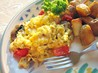Mexi Egg Scramble Skillet. Recipe by Kittencalskitchen
