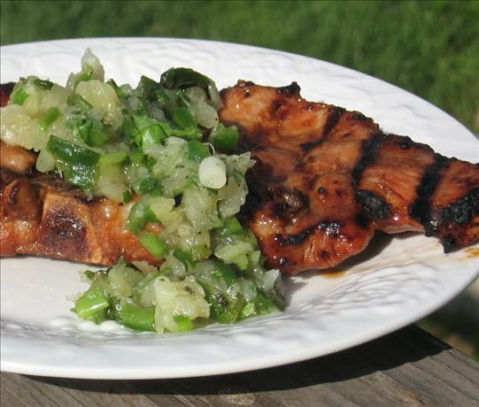 Hoisin Pork Chops With Pineapple Green Onion Relish. Photo by Charmie777