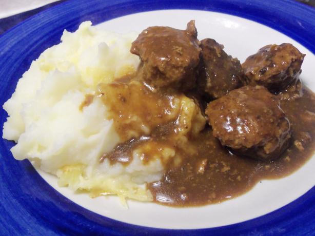 Norwegian Meatballs in Brown Gravy. Photo by AZPARZYCH