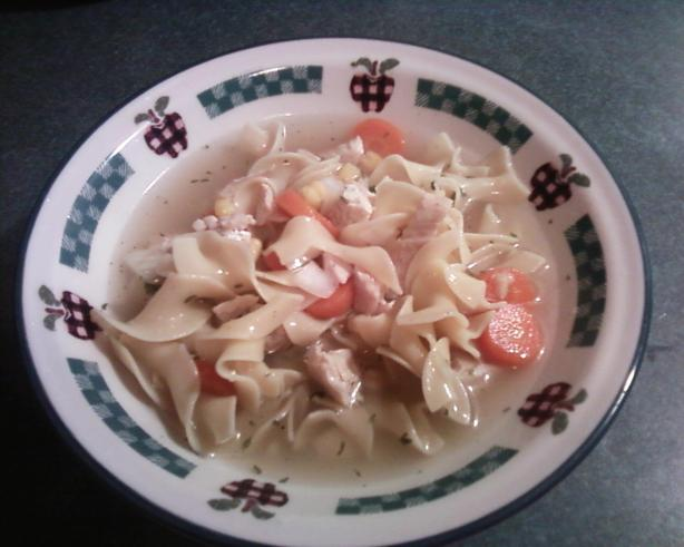 Grandma's Chicken Noodle Soup. Photo by Christy M. From Indiana