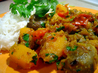 Oven-Roasted Eggplant and Butternut Squash Curry. Recipe by Chef #573036