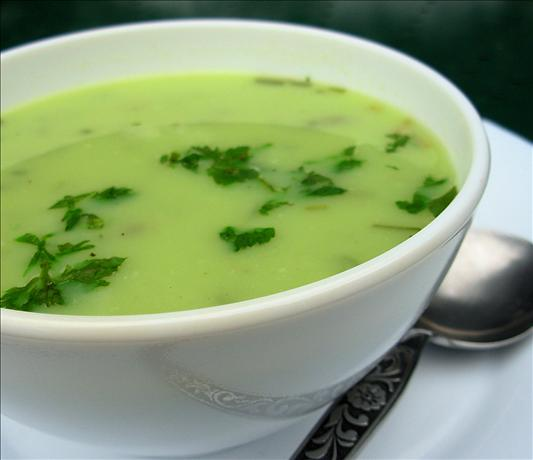 Old Fashioned Lovage and Potato Soup. Photo by French Tart
