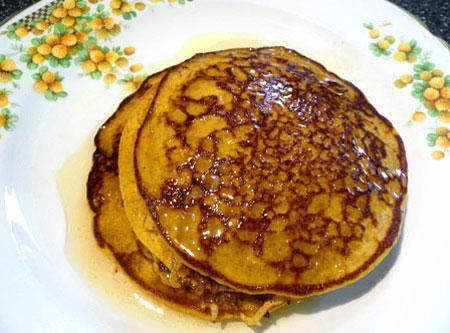 Gluten Free Pumpkin Pancakes. Photo by Mikekey