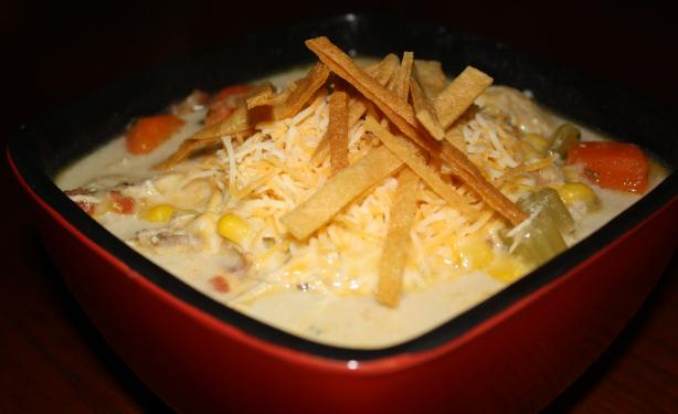 Eat Til You Bust Chicken Tortilla Soup. Photo by blueguitargirl1985