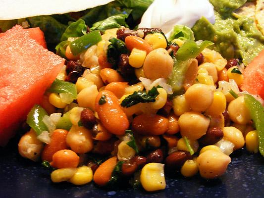 Mexican Bean Salad. Photo by Lavender Lynn