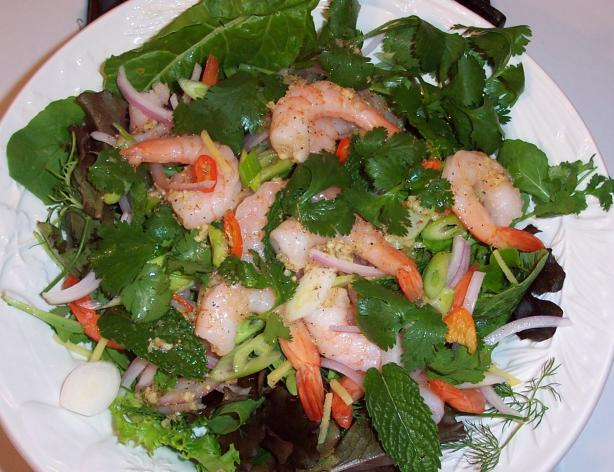 Thai Spicy Shrimp Salad (Yaam Goong). Photo by Hey Jude