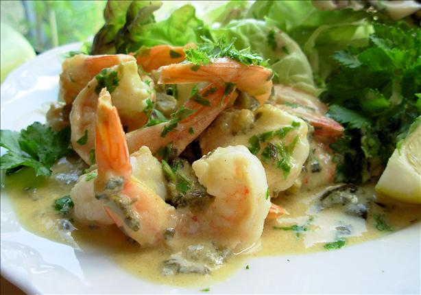 Warm Lemon, Lime and Lovage Prawns With Pineau Des Charentes. Photo by French Tart