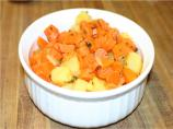 Minted Carrots With Pineapple