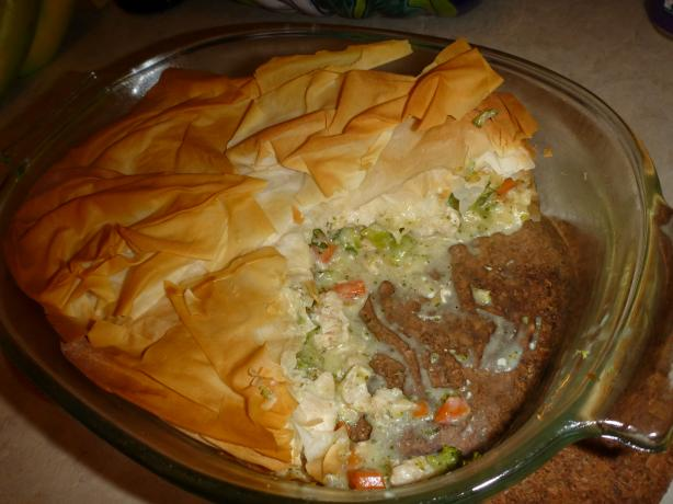 Lower Fat Chicken Pot Pie With Phyllo. Photo by ~*lil_miss_SBC*~