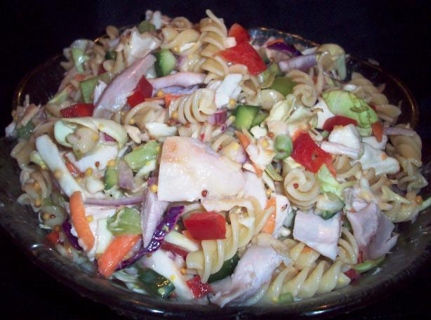 Chicken Coleslaw Pasta Salad. Photo by Tisme
