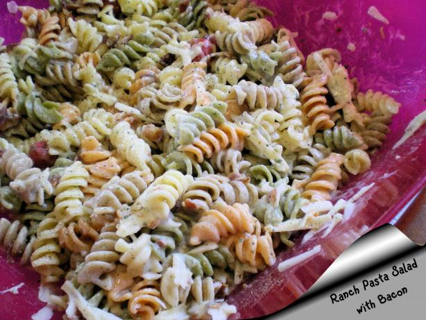 Ranch Pasta Salad With Bacon. Photo by Julie B's Hive