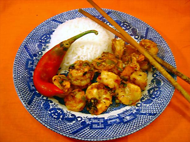 Szechuan Shrimp. Photo by :(