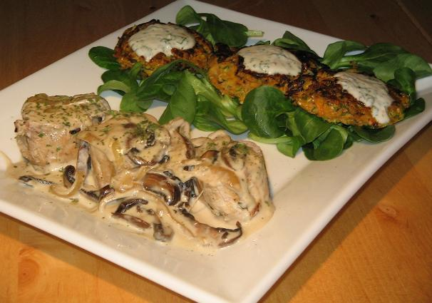 Pork Aux Champignons (French Pork With Mushrooms). Photo by The Flying Chef